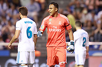 Real Madrid's Keylor Navas celebrates during La Liga match. August 20,2017.  *** Local Caption *** © pixathlon