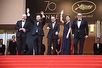 Mikhail Krichman, Alexey Rozin, Andrey Zvyagintsev, Maryana Spivak , Alexander Rodnyansky arrivent sur le tapis rouge pour la projection du film en comp, ition NELYUBOV, lors du soixante-dixiËme (70Ëme) Festival du Film ‡ Cannes, Palais des Festivals , des Congres, Cannes, Sud de la France, jeudi 18 mai 2017. Philippe FARJON / VISUAL Press Agency - RED CARPET OF THE FILM 'LOVELESS (NELYUBOV)' AT THE 70TH FESTIVAL OF CANNES 2017