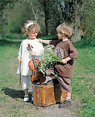 Interlitho, Alberto, CHILDREN, photos, girl, violin, boy, flower(KL15732,#K#) Kinder, niños