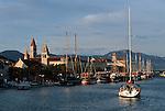 .Medival town of Trogir nearby split.Cruise in Croatia. Island of Dalmatia