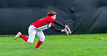 SOUTHBURY, CT 050721JS17—Pomperaug's Ava Hare (40) makes a running, diving catch in the outfield during their game with Bethel Friday at Pomperaug High School. <br /> Jim Shannon Republican American