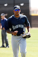 Greg Halman  -  Seattle Mariners - 2009 spring training.Photo by:  Bill Mitchell/Four Seam Images