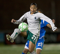 St Louis Athletica forward Francielle Alberto (21). The Boston Breakers defeated Saint Louis Athletica, 2-0, at Harvard Stadium on April 11, 2009.