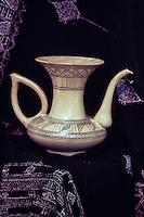 Ceramics, Nabeul, Tunisia.  Modern Pitcher.  Nabeul Arts and Crafts Center.