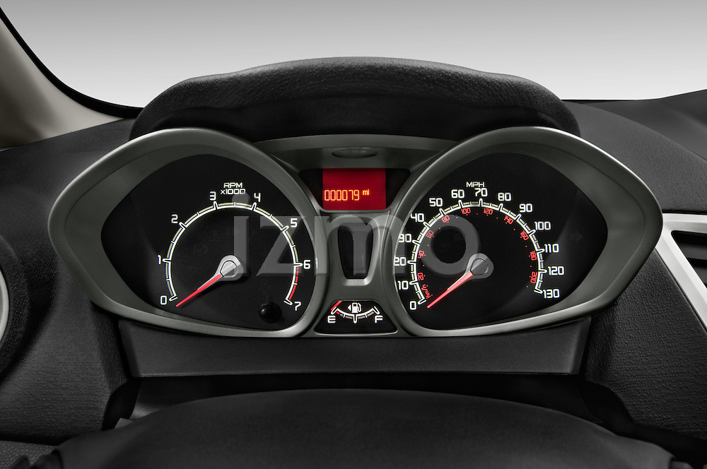 Instrument panel close up detail view of a