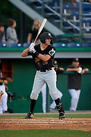 West Virginia Black Bears Zack Kone (26) at bat during a NY-Penn League game against the Batavia Muckdogs on June 25, 2019 at Dwyer Stadium in Batavia, New York.  Batavia defeated West Virginia 7-3.  (Mike Janes/Four Seam Images)