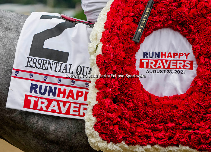 August 28, 2021: on Travers Stakes Day at Saratoga Race Course in Saratoga Springs, New York. Scott Serio/Eclipse Sportswire/CSM