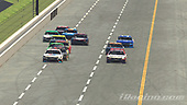 #77: Parker Kligerman, Burton Kligerman eSports, Toyota Camry, #11: Denny Hamlin, Joe Gibbs Racing, Toyota Camry<br /> <br /> (MEDIA: EDITORIAL USE ONLY) (This image is from the iRacing computer game)