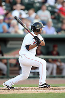 Great Lakes Loons Rafael Ynoa (5) at Dow Diamond in Midland, MI. The Loons are the Midwest League affiliate of the Los Angeles Dodgers. July 8, 2010. Photo By Chris Proctor/Four Seam Images