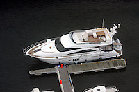 Pictured: Sketchy luxury boat belonging to gavin henson and Charlotte Church in Swansea Marina general view of Swansea as seen from the Penthouse restaurant<br />