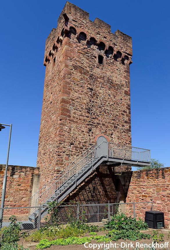 Turm der Stadtmauer, Wörth am Main, Bayern, Deutschland