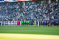 CARSON, CA - JUNE 19: Los Angeles Galaxy, Seattle Sounders FC starting eleven during a game between Seattle Sounders FC and Los Angeles Galaxy at Dignity Health Sports Park on June 19, 2021 in Carson, California.