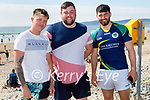 Enjoying the afternoon in Banna Beach on Sunday, l to r: Dylan O'Connor, Akeem Molloy and Peter Murphy, all from Tralee.