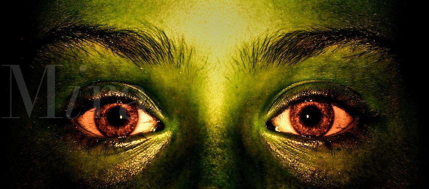 Evil eyes.