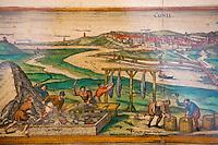 EEurope/France/Aquitaine/64/Pyrénées-Atlantiques/Pays Basque/Bidart: Lors d'une exposition tableau représentant le fonctionnement d'une usine de salaison à Conil Espagne