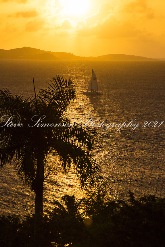 Sunset from the Buccaneer Resort<br /> St. Croix<br /> US Virgin Islands