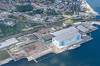 MV Werften Stralsund: EUROPA, DEUTSCHLAND, MECKLENBURG VORPOMMERN, (EUROPE, GERMANY), 01.09.2020: MV Werften Stralsund