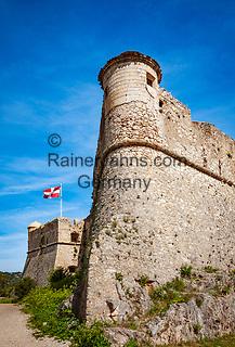 Frankreich, Provence-Alpes-Côte d'Azur, Nizza: auf dem Mont Boron im Parc du Mont Boron gelegenes Fort du Mont Alban   France, Provence-Alpes-Côte d'Azur, Nice: Fort du Mont Alban insice Parc du Mont Boron on hilltop Mount Boron