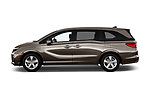 Car Driver side profile view of a 2019 Honda Odyssey EX-L 5 Door Minivan Side View