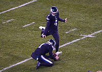 kicker Jake Elliott (4) of the Philadelphia Eagles beim Field Goal zum 3:7 - 09.12.2019: Philadelphia Eagles vs. New York Giants, Monday Night Football, Lincoln Financial Field