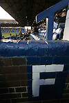 Stockport County 2 Rushden & Diamonds 2, 22/01/2006. Edgeley Park, League Two. Stockport County versus Rushden & Diamonds, Coca-Cola Football League Two at Edgeley Park, Stockport. With the teams occupying the bottom two places in the Football league, points were vital in home club's Jim Gannon's first game in charge as manager. The match ended 2-2. Picture shows County fans in the old main stand.<br />  Photo by Colin McPherson.