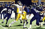 CHESHIRE CT. 11 December 2017-121117SV08-Quarterback #12 David Summers of St. Joseph looks to throw down field against Ansonia during the CIAC Class S Championship in Cheshire Monday.<br /> Steven Valenti Republican-American