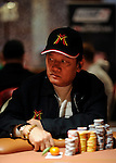 """Men """"The Master"""" Nguyen is close to the chip lead halfway through play on Day 2 of the NAPT Venetian Main Event."""