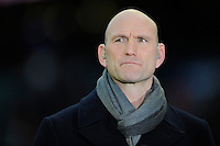 Former England international and BBC pundit, Lawrence Dallaglio, during the RBS 6 Nations match between England and France at Twickenham on Saturday 23rd February 2013 (Photo by Rob Munro)
