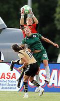 Nicole Barhart (GK), Lori Chalupny, Brandi Chastain..Saint Louis Athletica tied 1-1 with F.C Gold Pride, at Anheuser-Busch Soccer Park, Fenton, Missouri.