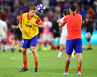 Orlando, FL - Wednesday July 31, 2019:  Marcos Llorente #14 warms up prior to an Major League Soccer (MLS) All-Star match between the MLS All-Stars and Atletico Madrid at Exploria Stadium.