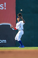 Byron Buxton (7) of the Chattanooga Lookouts fields during a game between the Jackson Generals and Chattanooga Lookouts at AT&T Field on May 8, 2015 in Chattanooga, Tennessee. (Brace Hemmelgarn/Four Seam Images)