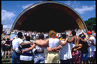 AIDS activists at From All Walks of Life at the Hatch shell Boston MA