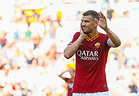Roma's Edin Dzeko reacts after being injured during the Serie A soccer match between Roma and Cagliari at Rome's Olympic Stadium, October 6, 2019. UPDATE IMAGES PRESS/ Riccardo De Luca