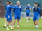 St Johnstone Training….19.08.20<br />Ali McCann pictured with Chris Kane and Danny McNamara during training at McDiarmid Park this morning ahead of tomorrow's re-arranged game against Aberdeen.<br />Picture by Graeme Hart.<br />Copyright Perthshire Picture Agency<br />Tel: 01738 623350  Mobile: 07990 594431