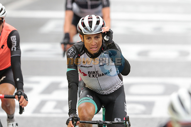 Esteban Chaves Rubio (COL) Team BikeExchange crosses the finish line at the end of Stage 16 of the 2021 Tour de France, running 169km from Pas de la Case to Saint-Gaudens, Andorra. 13th July 2021.  <br /> Picture: Colin Flockton | Cyclefile<br /> <br /> All photos usage must carry mandatory copyright credit (© Cyclefile | Colin Flockton)