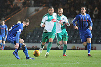 Antoni Sarcevic (Plymouth Argyle) during the Sky Bet League 1 match between Rochdale and Plymouth Argyle at Spotland Stadium, Rochdale, England on 15 December 2018. Photo by James  Gill / PRiME Media Images.