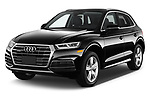 2018 Audi Q5 Prestige 5 Door SUV angular front stock photos of front three quarter view