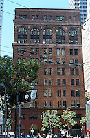 San Francisco. Turn of the Century Office Bldg., Bush at Market  (empty). This excellent building not listed in guide. (Photo '89)