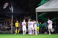 LAKE BUENA VISTA, FL - AUGUST 06: Orlando City SC celebrates a goal during a game between Orlando City SC and Minnesota United FC at ESPN Wide World of Sports on August 06, 2020 in Lake Buena Vista, Florida.