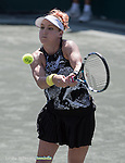 April  8, 2016:   defeated  , at the Volvo Car Open being played at Family Circle Tennis Center in Charleston, South Carolina.  ©Leslie Billman/Tennisclix/Cal Sport Media