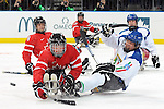 Marc Dorion, Vancouver 2010 - Para Ice Hockey // Para-hockey sure glace.<br /> Team Canada plays against Italy in Para Ice Hockey action // Équipe Canada affronte l'Italie dans un match de para-hockey sur glace. 13/03/2010.