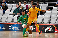 Rahan Ali of Southern and Harry Lack of Central during the Men's Futsal SuperLeague, Central Futsal v Southern United Futsal at ASB Sports Centre, Wellington on Saturday 31 October 2020.<br /> Copyright photo: Masanori Udagawa /  www.photosport.nz