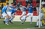 St Johnstone v St Mirren.....23.02.13      SPL.Rowan Vine prods the ball in to make it 1-0.Picture by Graeme Hart..Copyright Perthshire Picture Agency.Tel: 01738 623350  Mobile: 07990 594431