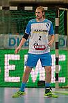 GER - Mannheim, Germany, September 23: During the DKB Handball Bundesliga match between Rhein-Neckar Loewen (yellow) and TVB 1898 Stuttgart (white) on September 23, 2015 at SAP Arena in Mannheim, Germany. Final score 31-20 (19-8) . (Photo by Dirk Markgraf / www.265-images.com) *** Local caption *** Tobias Schimmelbauer #2 of TVB 1898 Stuttgart