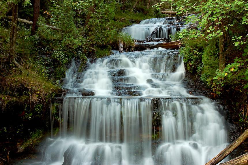 Wagner Falls located in Munising, MI.