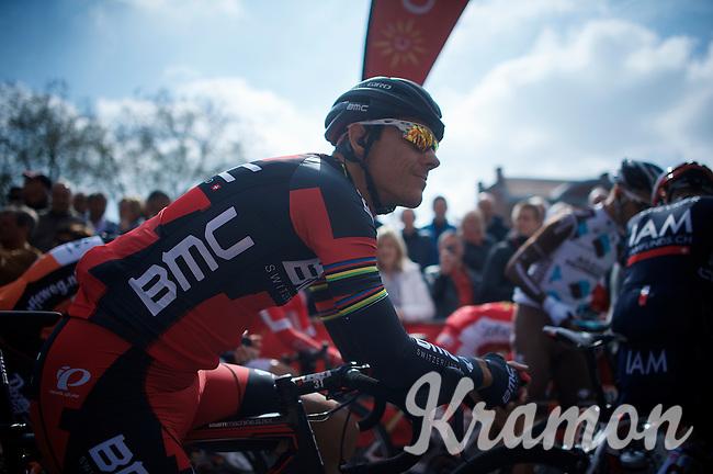 Philippe Gilbert (BEL/BMC) at the start<br /> <br /> 79th Flèche Wallonne 2015