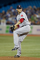 Boston Red Sox pitcher Daniel Bard #51 delivers a pitch during an American League game against the Toronto Blue Jays at Rogers Centre on June 3, 2012 in Toronto, Ontario.  (Mike Janes/Four Seam Images)