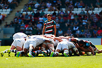 5th June 2021; Mattioli Woods Welford Road Stadium, Leicester, Midlands, England; Gallagher Premiership Rugby, Leicester Tigers versus Bristol Bears; Ben Youngs of Leicester Tigers watches a scrum