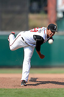 Lansing Lugnuts pitcher Javier Avendano (29) during a game against the Dayton Dragons on August 25, 2013 at Cooley Law School Stadium in Lansing, Michigan.  Dayton defeated Lansing 5-4 in 11 innings.  (Mike Janes/Four Seam Images)