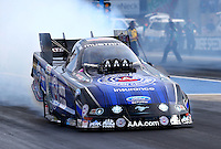Jul. 18, 2014; Morrison, CO, USA; NHRA funny car driver Robert Hight during qualifying for the Mile High Nationals at Bandimere Speedway. Mandatory Credit: Mark J. Rebilas-